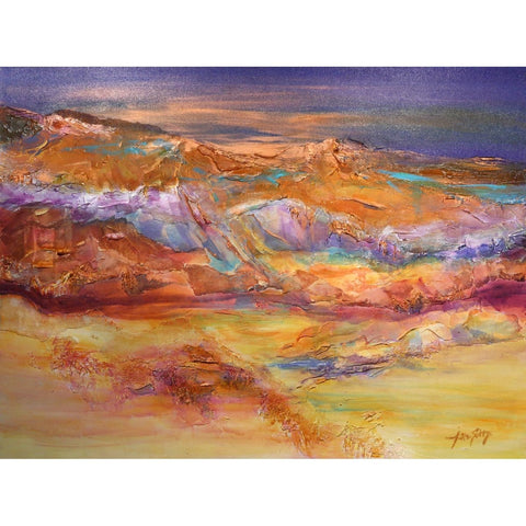 """Sedona at Dusk""-Jan Sitts-Renee Taylor Gallery"