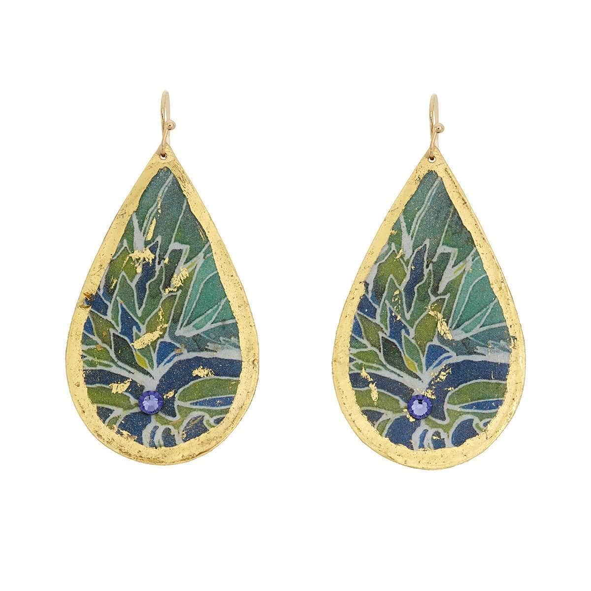Seychelles Gold Teardrop Earrings - MG439-Evocateur-Renee Taylor Gallery