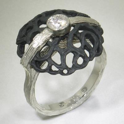 Shadow Dome Circle Ring - 40R8-1-1-GS-WG/ST-Sarah Graham-Renee Taylor Gallery