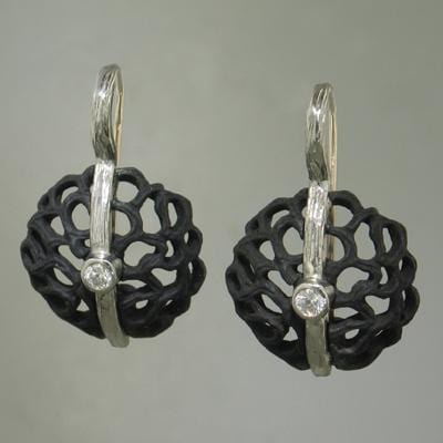 Shadow Dome Small Circle Earrings - 40E8-3-1-GS-WG/ST-Sarah Graham-Renee Taylor Gallery