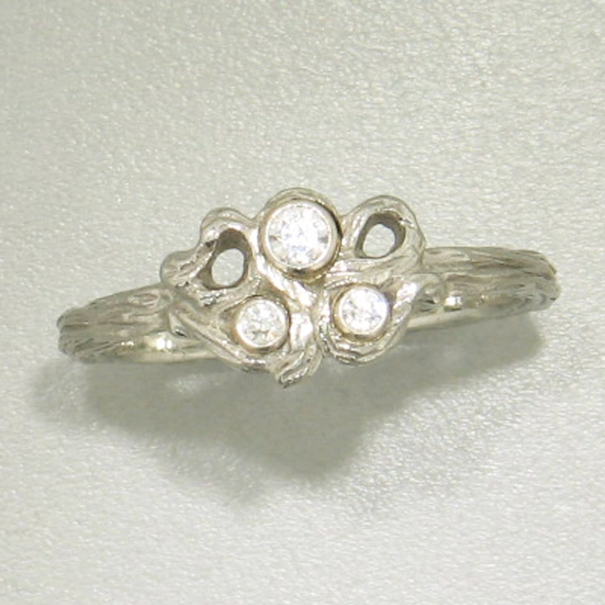 Shadow Gold & Diamond Ring - 40R8-5-1G-WG-Sarah Graham-Renee Taylor Gallery
