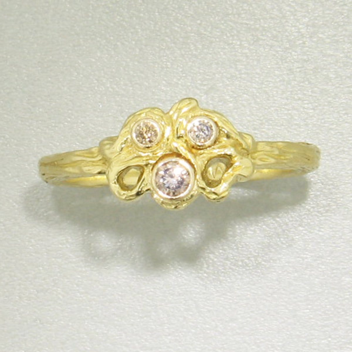 Shadow Gold & Diamond Ring - 40R8-5-3G-YG-Sarah Graham-Renee Taylor Gallery