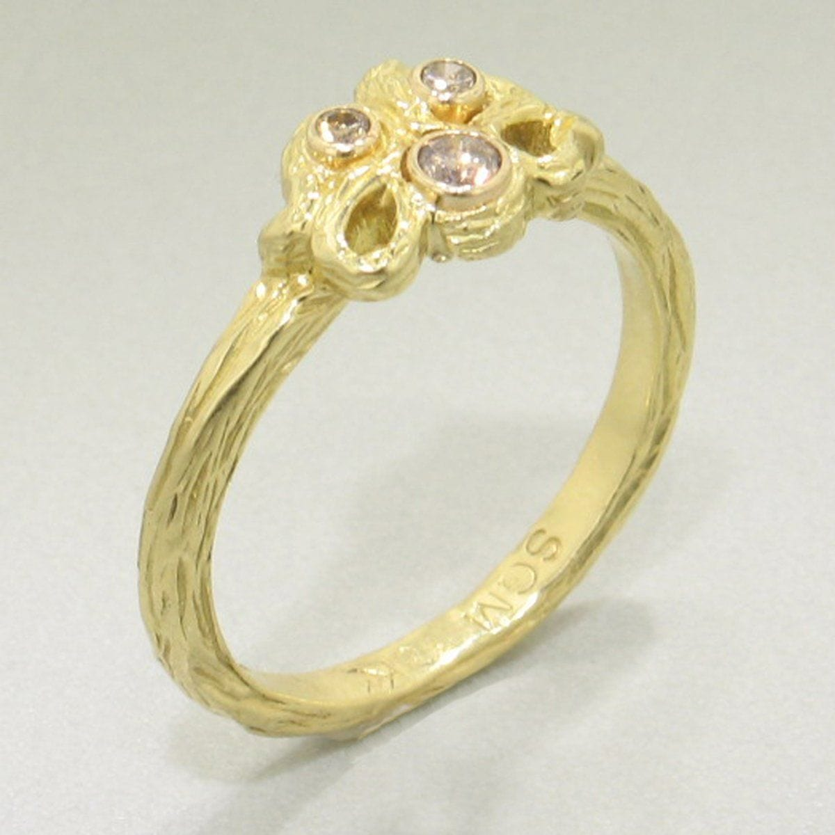 Shadow Five Loop Stacking Gold & Diamond Ring - 40R8-5-3G-YG