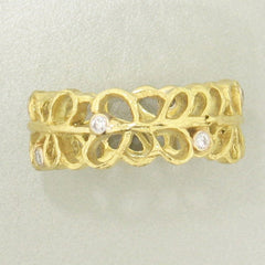 Shadow Narrow Band Diamond & Gold Ring - 40R1-1-1G-YG-Sarah Graham-Renee Taylor Gallery
