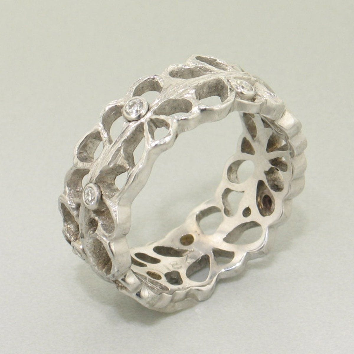 Shadow Diamond & White Gold Ring - 40R1-1-1G-WG-Sarah Graham-Renee Taylor Gallery