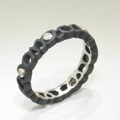 Shadow Diamond & Cobalt Chromium Steel Ring - 40R1-3-1S-ST-Sarah Graham-Renee Taylor Gallery