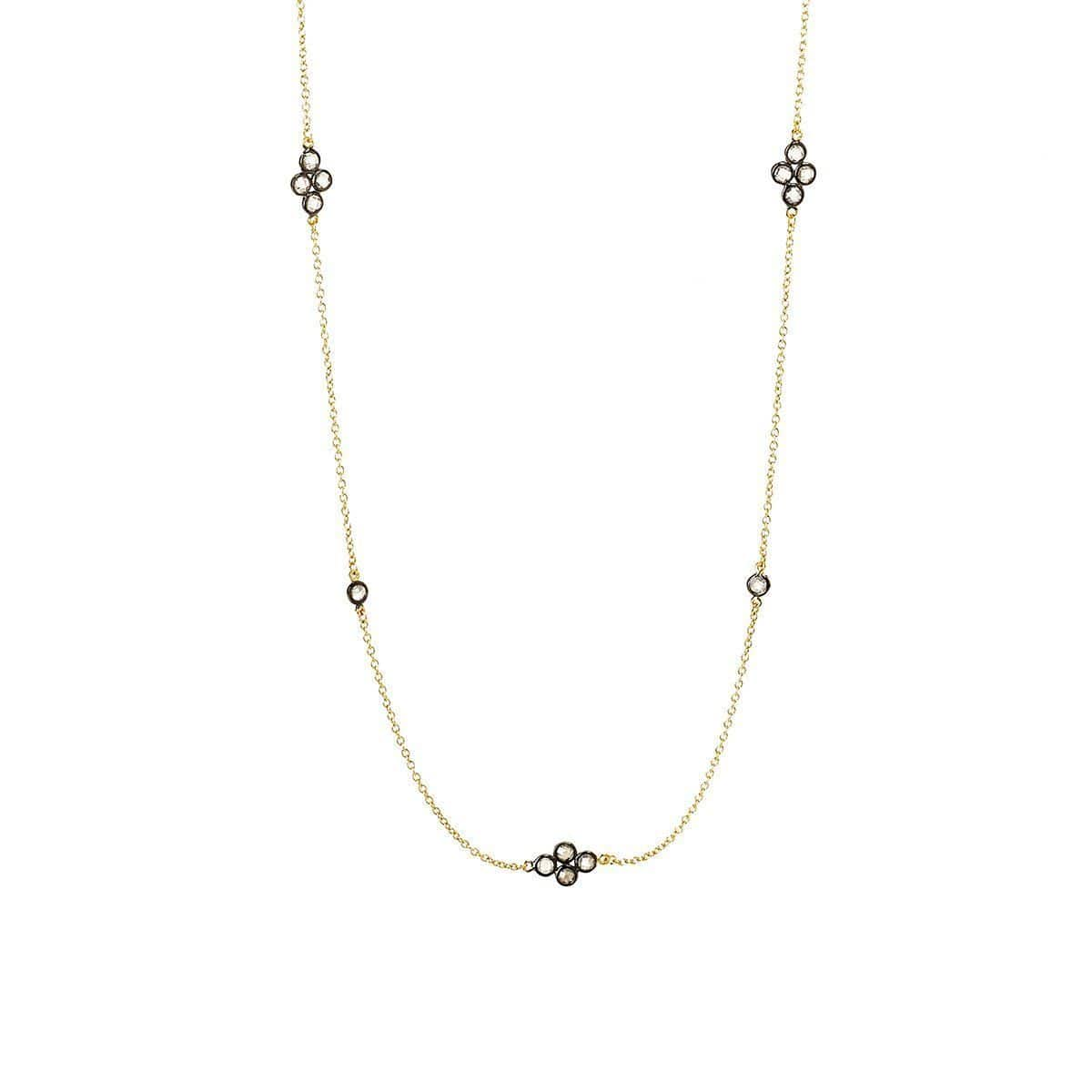 Signature Four Point Station Necklace - YRZ070055-40-Freida Rothman-Renee Taylor Gallery