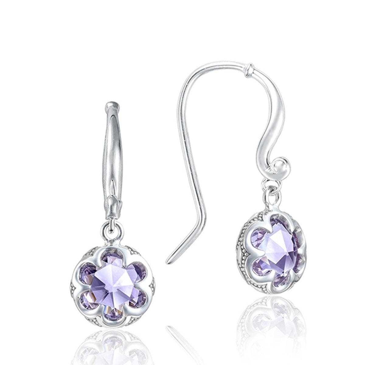 Silver Round Amethyst French Wire Earrings - SE21101-Tacori-Renee Taylor Gallery