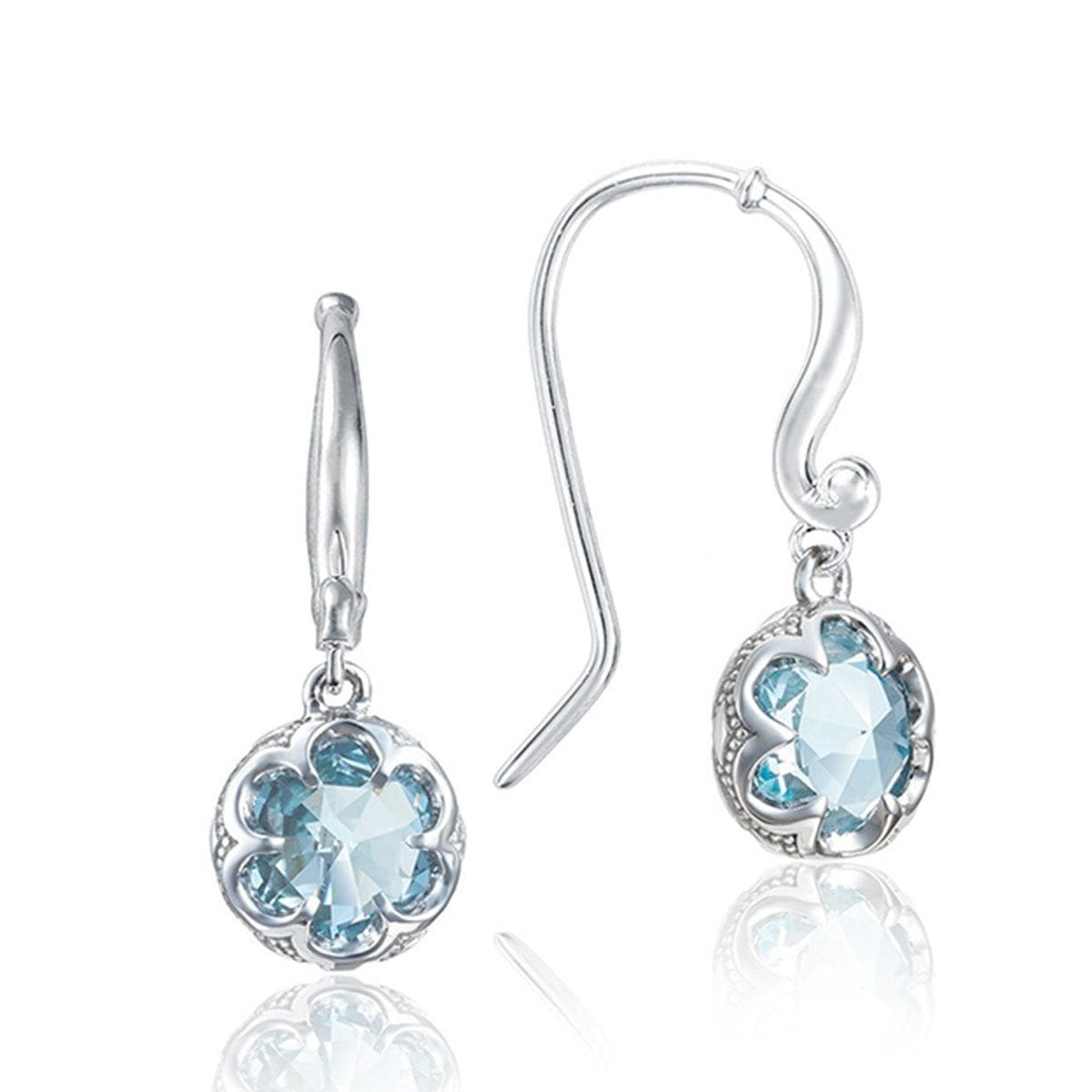Silver 10MM Round Sky Blue Topaz French Wire Earrings - SE21102-Tacori-Renee Taylor Gallery