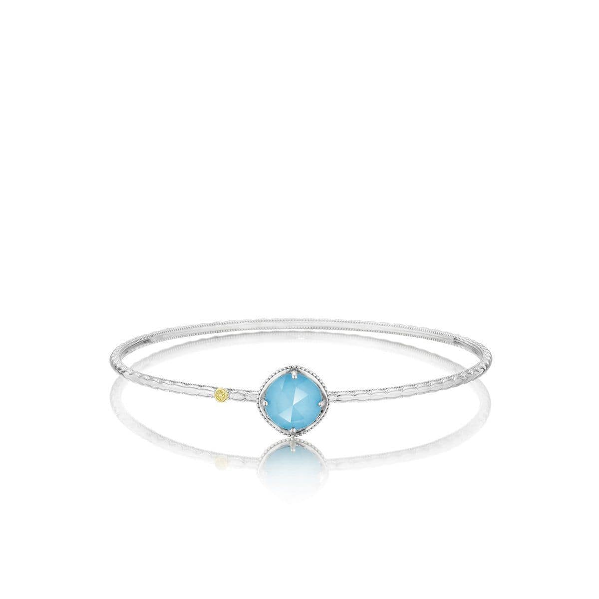 Silver 10mm Round Turquoise Bangle - SB12305-Tacori-Renee Taylor Gallery