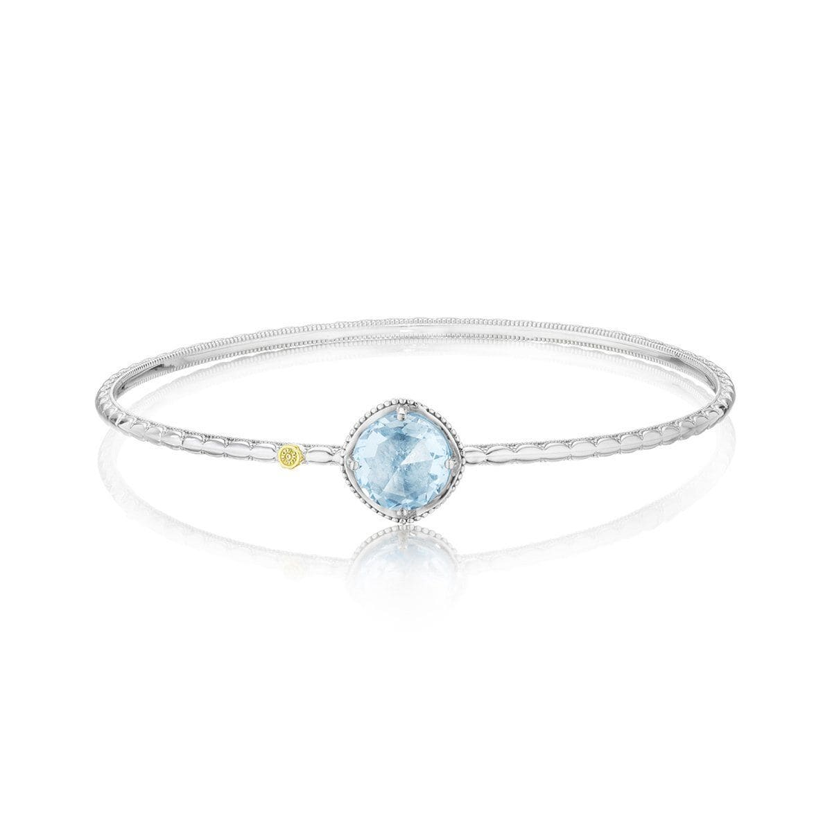 Silver 10mm Sky Blue Topaz Bangle - SB12302-Tacori-Renee Taylor Gallery