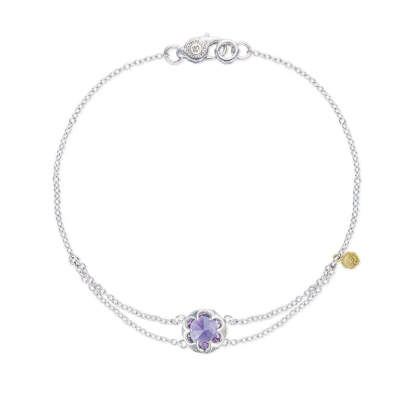 Silver Round Amethyst Bracelet Double Chain Anchor - SB20001-Tacori-Renee Taylor Gallery