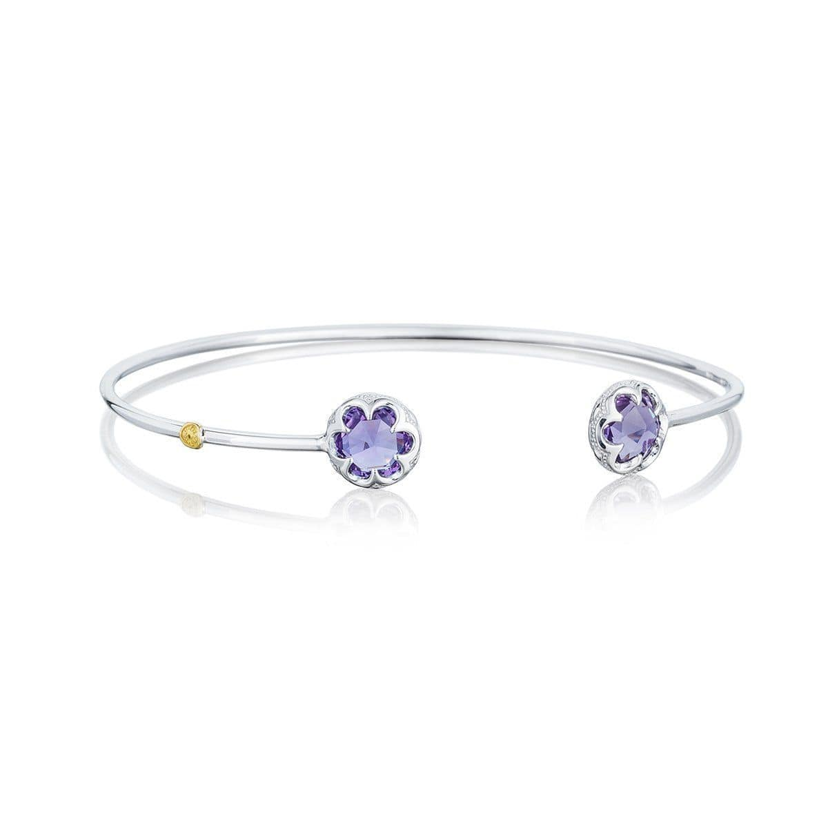 Silver 7mm Round Amethyst Bangle - SB20101-Tacori-Renee Taylor Gallery