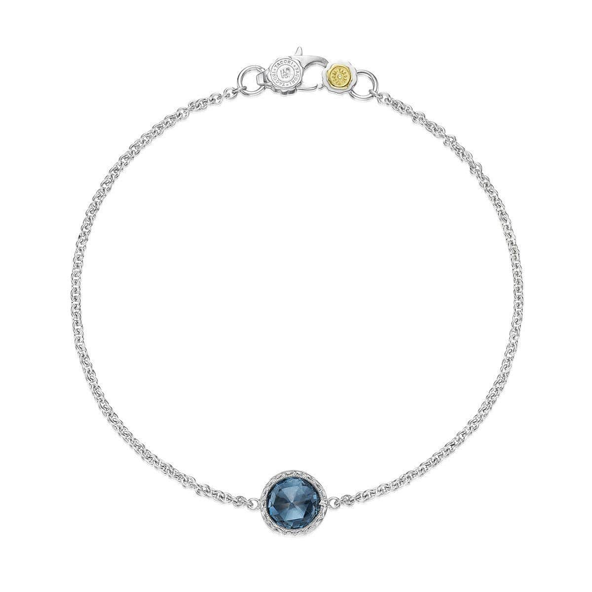 Silver 7mm Round London Blue Topaz Bracelet - SB16733-Tacori-Renee Taylor Gallery