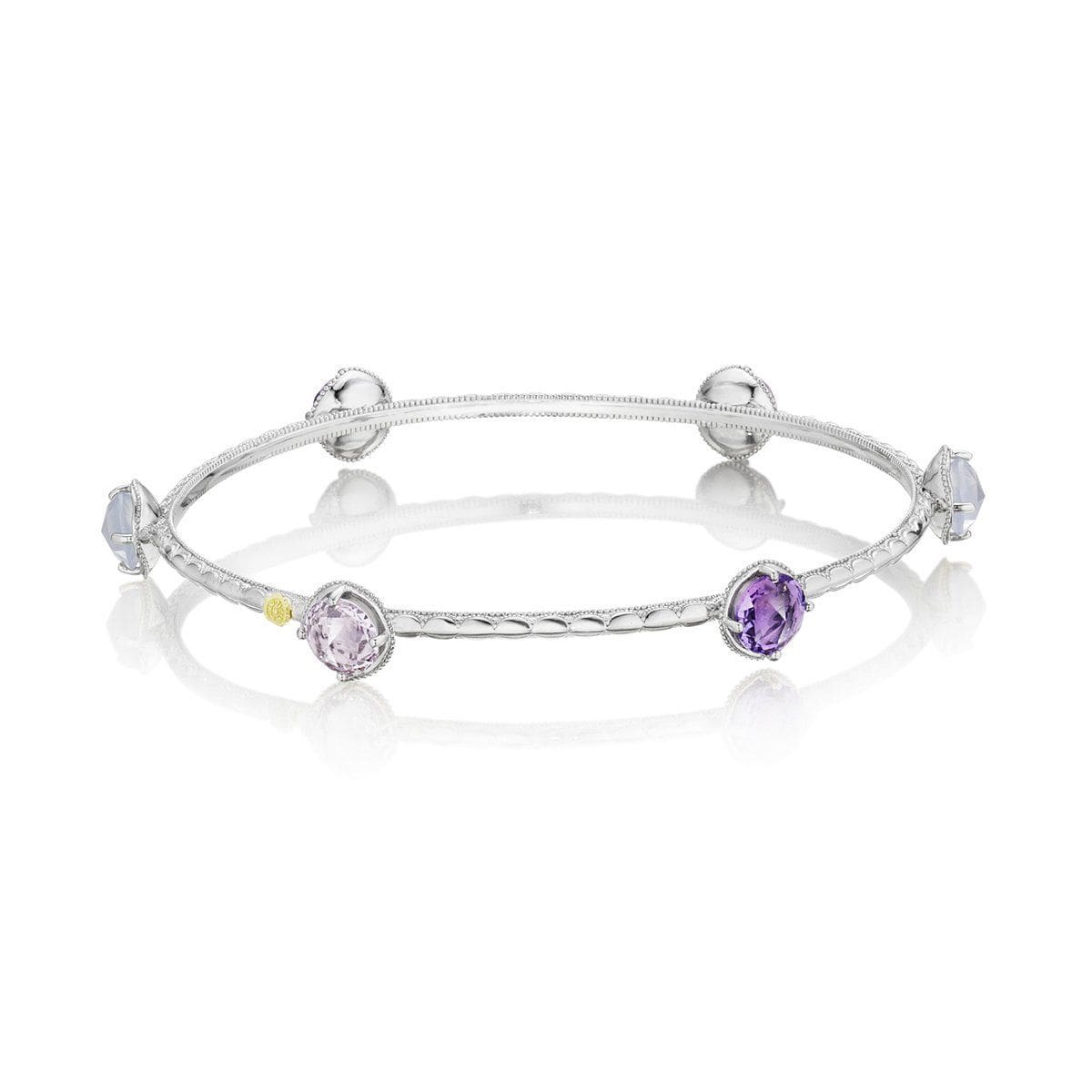 Silver Round Multi Color Bangle - SB124130126-Tacori-Renee Taylor Gallery