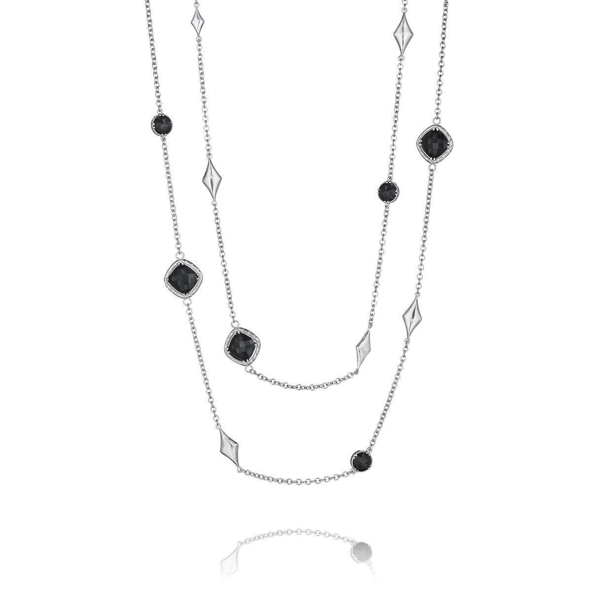 Silver Black Onyx Chain Necklace - SN16619-Tacori-Renee Taylor Gallery
