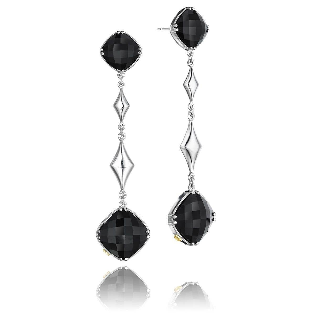 Silver Black Onyx Earrings - SE17019-Tacori-Renee Taylor Gallery