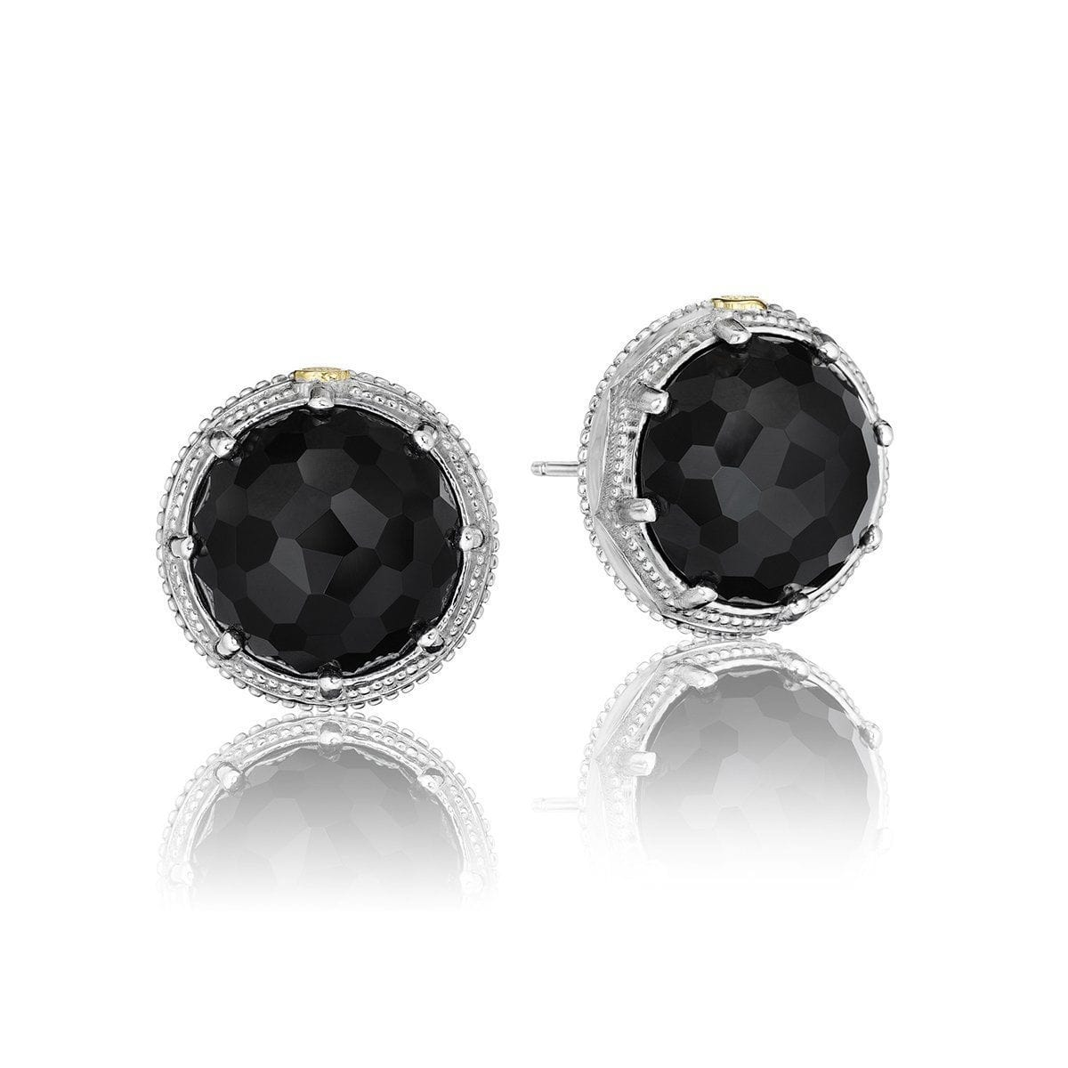 Silver Black Onyx Earrings - SE17119-Tacori-Renee Taylor Gallery