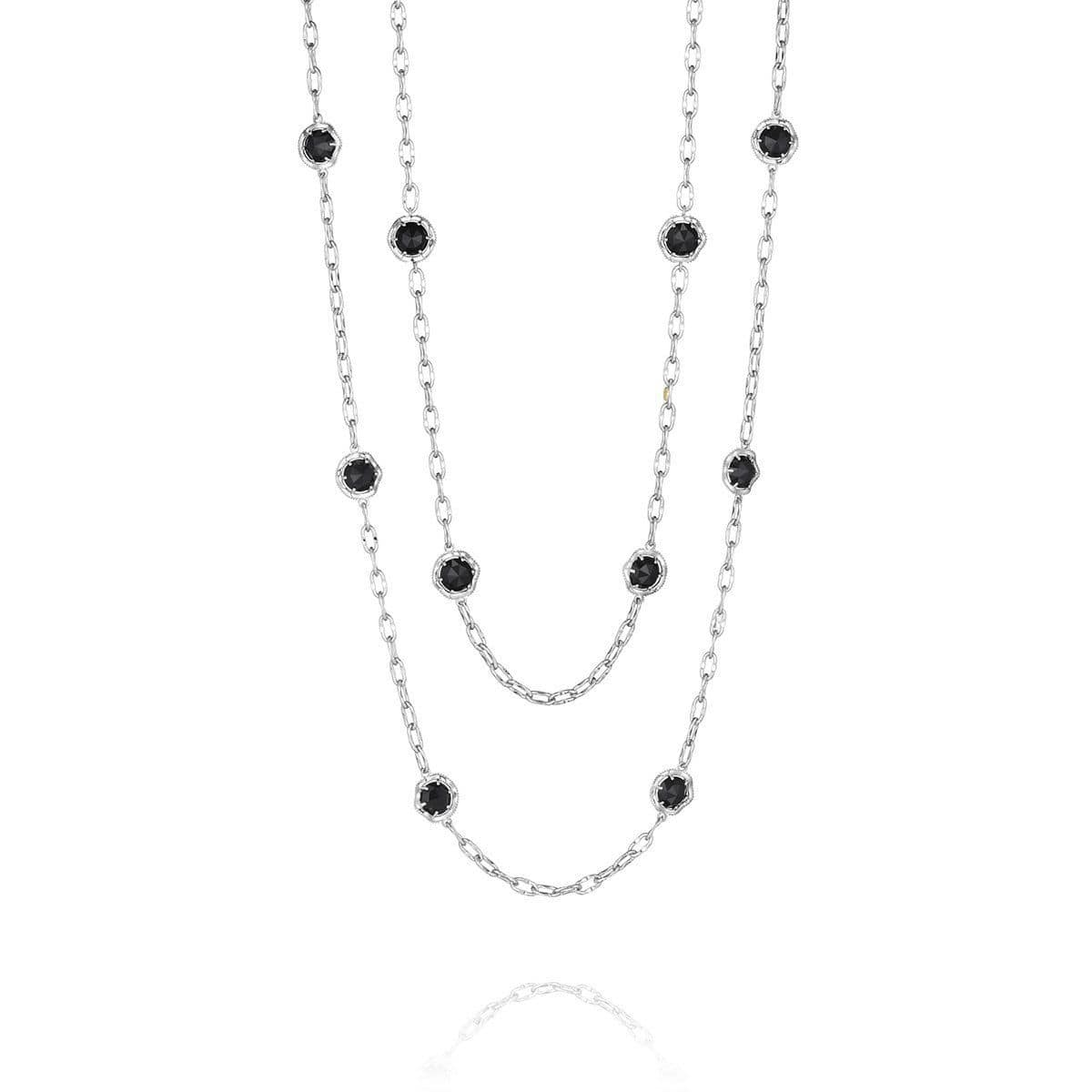 Silver Black Onyx Medley Necklace - SN10819-Tacori-Renee Taylor Gallery