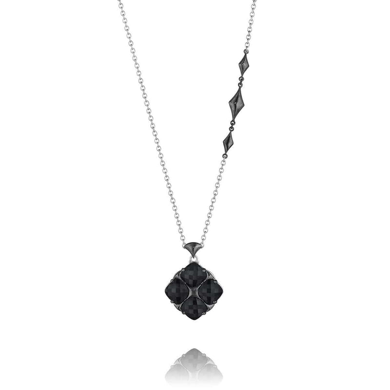 Silver Black Onyx Necklace - SN16319-Tacori-Renee Taylor Gallery