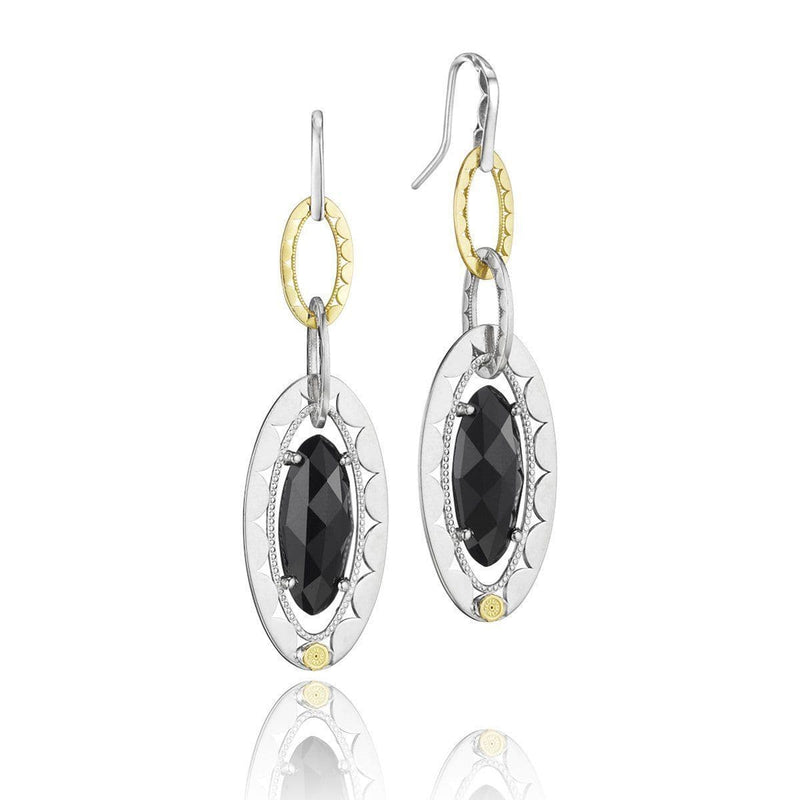 Silver Black Onyx Oval Briolette Link Earrings - SE107Y19-Tacori-Renee Taylor Gallery