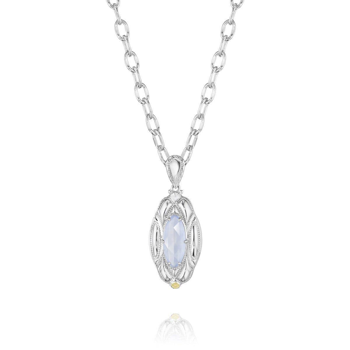 Silver Chalcedony Classic Rock Pendant - SN12926-Tacori-Renee Taylor Gallery