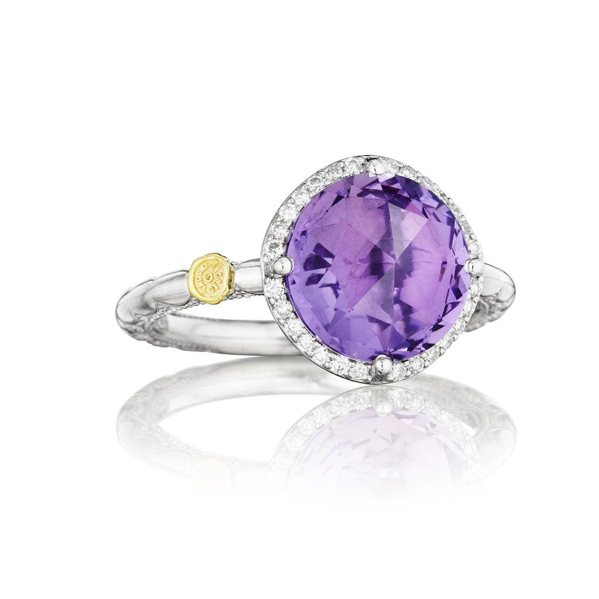 Silver Diamond Purple Amethyst Ring - SR14501-Tacori-Renee Taylor Gallery