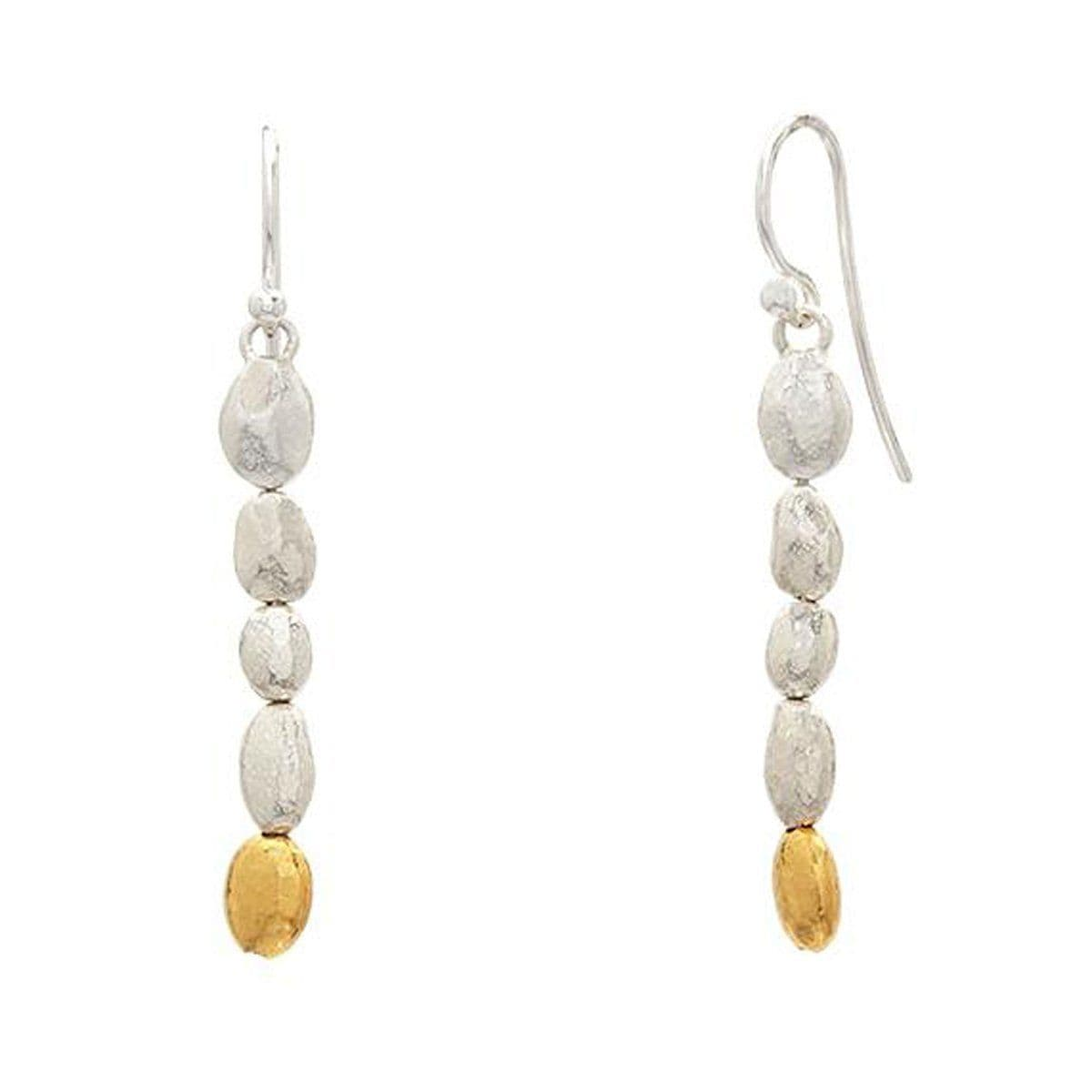 Silver & Gold Long Drop Earrings - EHSSG-NGXXS-1G-4W-GURHAN-Renee Taylor Gallery