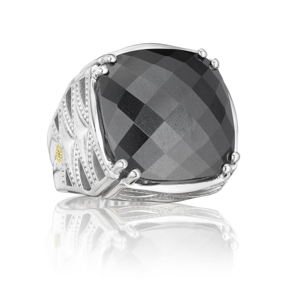 Silver Hematite Classic Rock Ring - SR13132-Tacori-Renee Taylor Gallery
