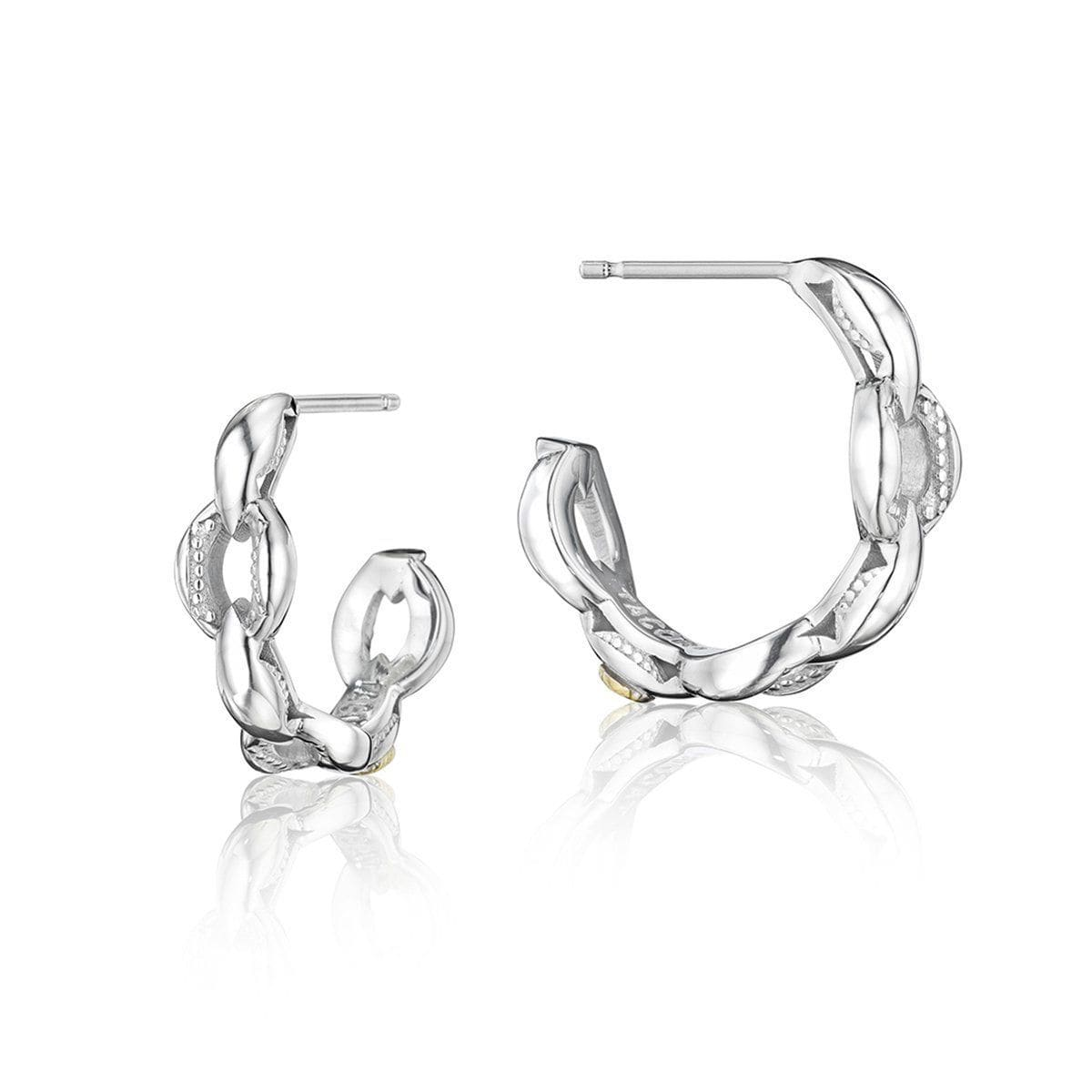 Silver Hoop Earrings - SE197-Tacori-Renee Taylor Gallery