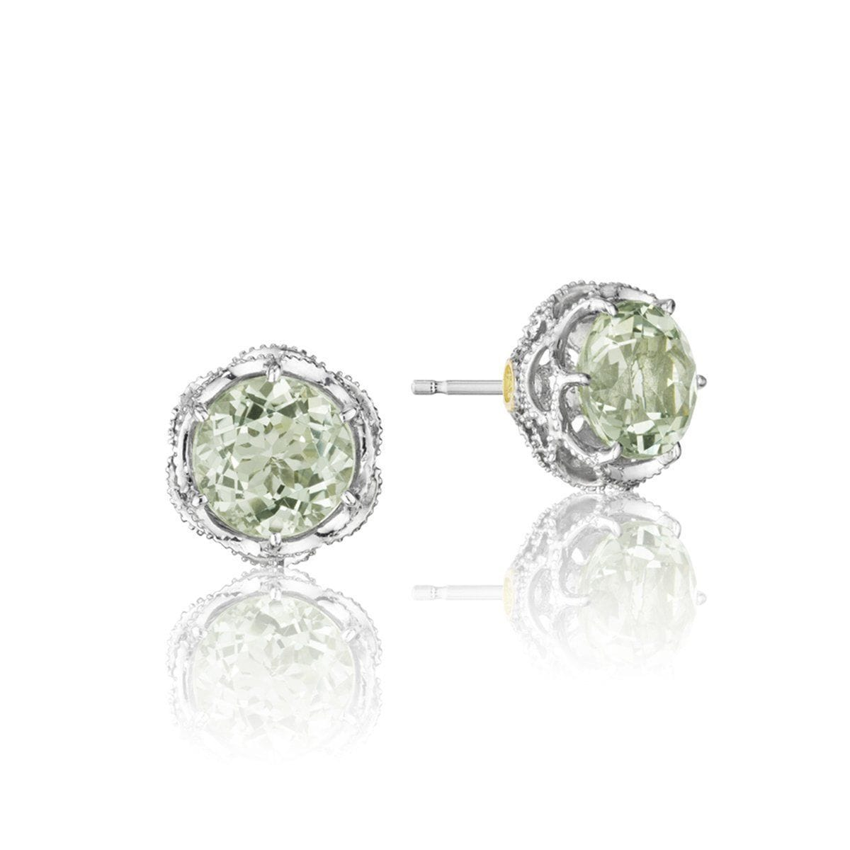 Silver Prasiolite Round Stud Earrings - SE10512-Tacori-Renee Taylor Gallery