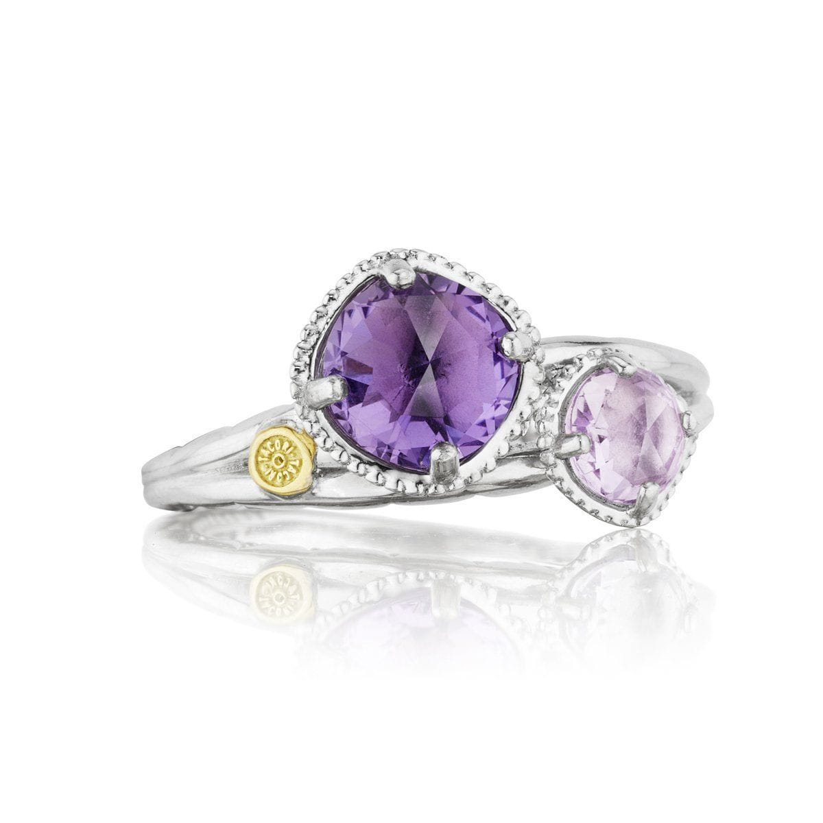 Silver Rose and Purple Amethyst Ring - SR1380113-Tacori-Renee Taylor Gallery