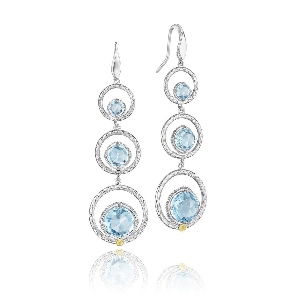 Silver Sky Blue Topaz Dangling Earrings - SE15002-Tacori-Renee Taylor Gallery