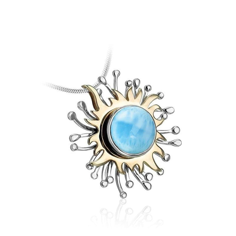 Solaire Necklace - Nsola00-00-Marahlago Larimar-Renee Taylor Gallery