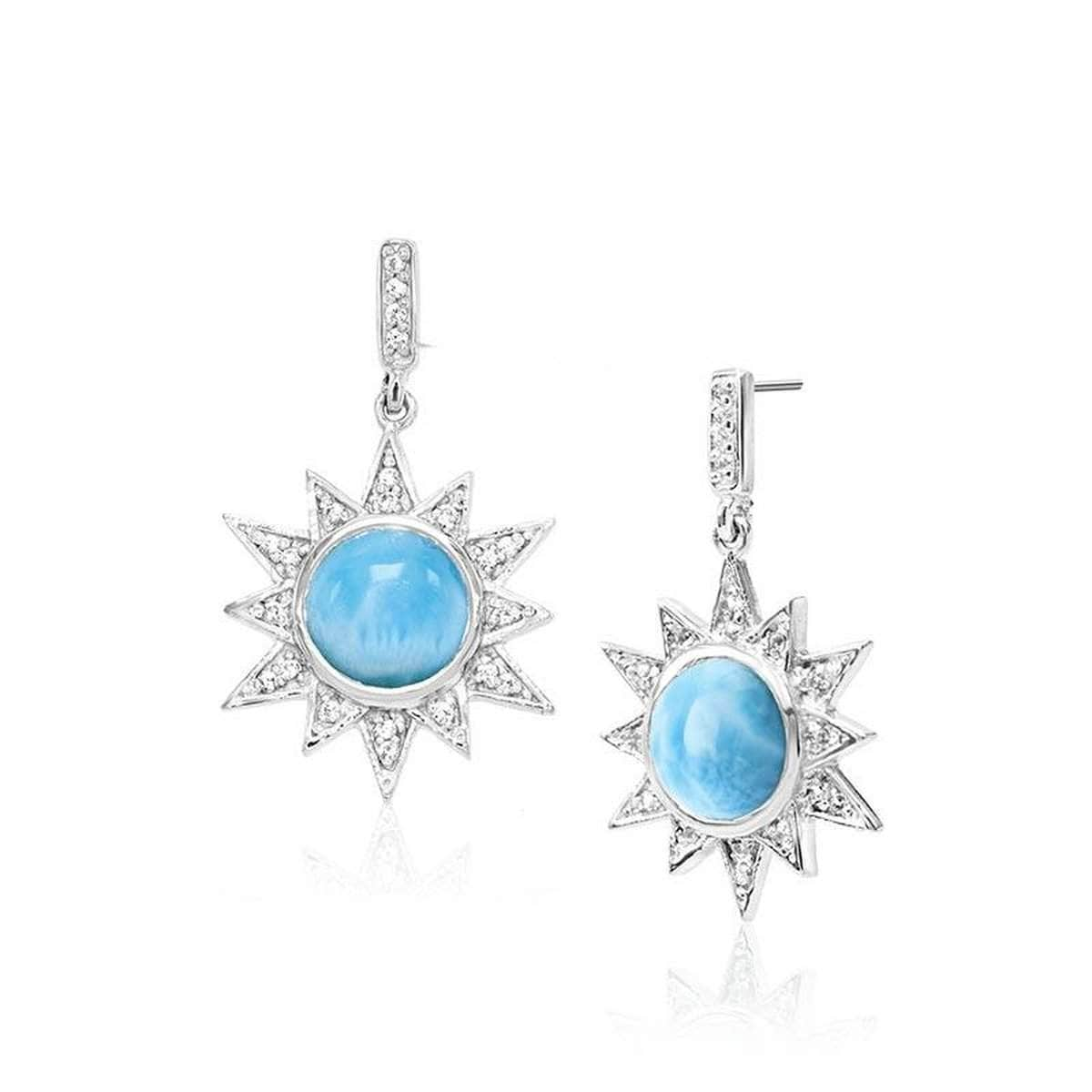 Solstice Earrings - Esols00-00-Marahlago Larimar-Renee Taylor Gallery