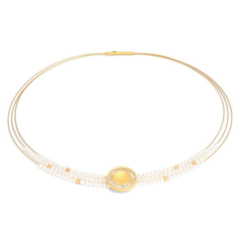 Sonito Freshwater Pearl Necklace - 84908656-Bernd Wolf-Renee Taylor Gallery