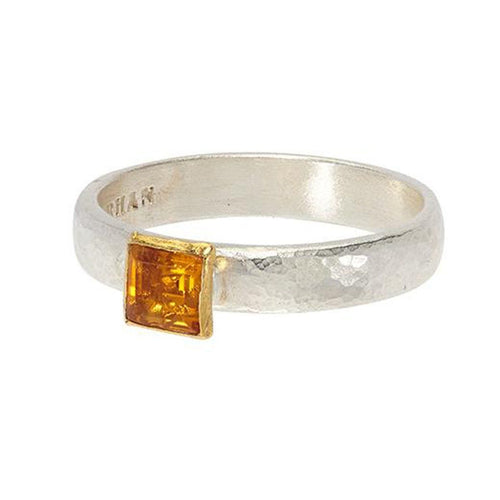 Square Citrine Skittle Ring - SR-390-GC5-SQ-GURHAN-Renee Taylor Gallery