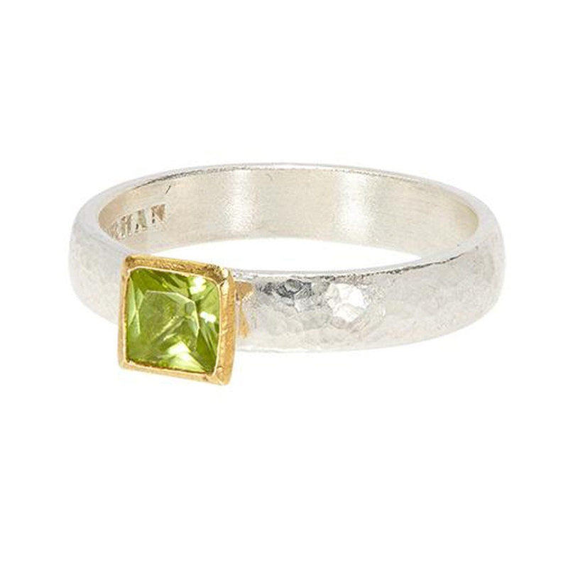 Square Peridot Skittle Ring - SR-390-PD5-SQ-75-GURHAN-Renee Taylor Gallery