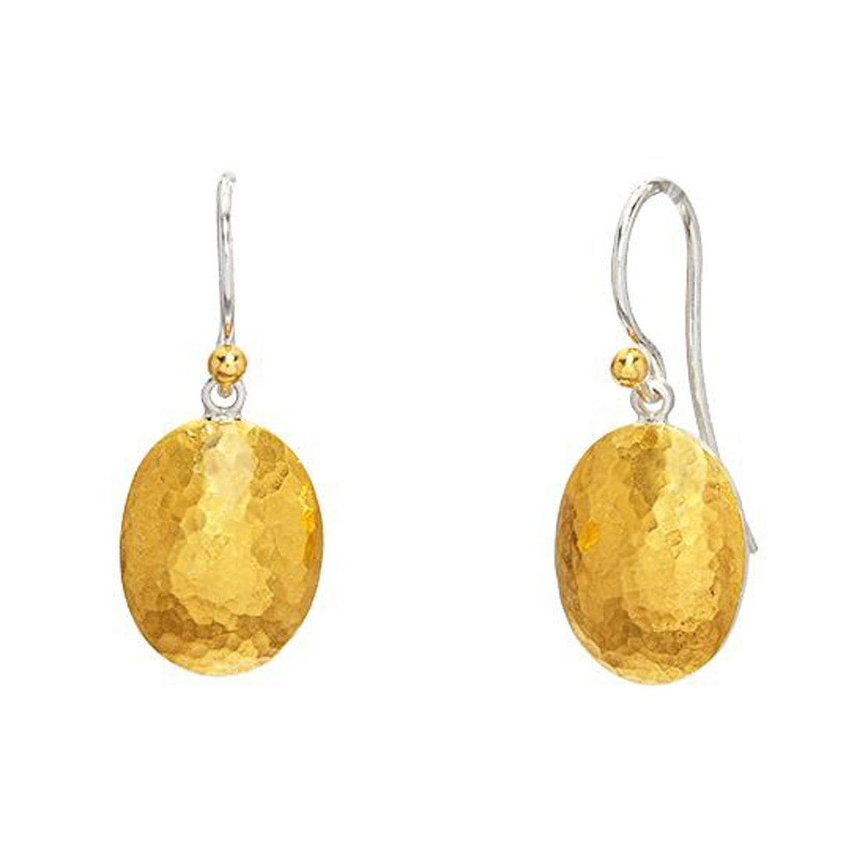 Sterling Silver & 24 Layered Gold Drop Earrings - EHSG-LT1411-G-GURHAN-Renee Taylor Gallery