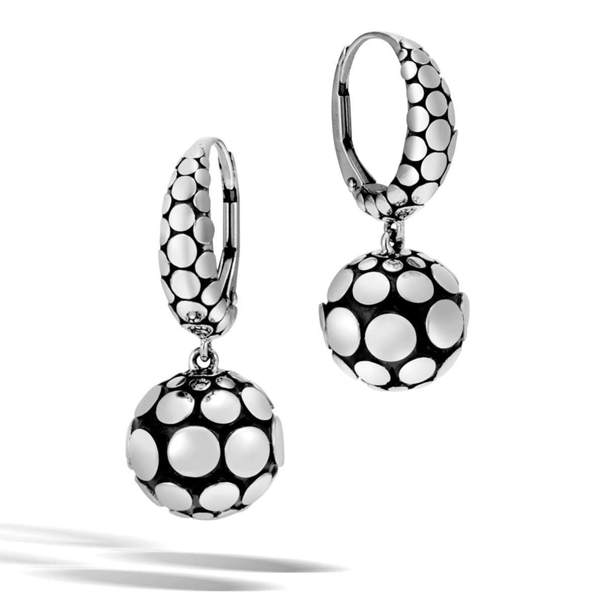 Dot Sterling Silver Drop Earrings - EB39243