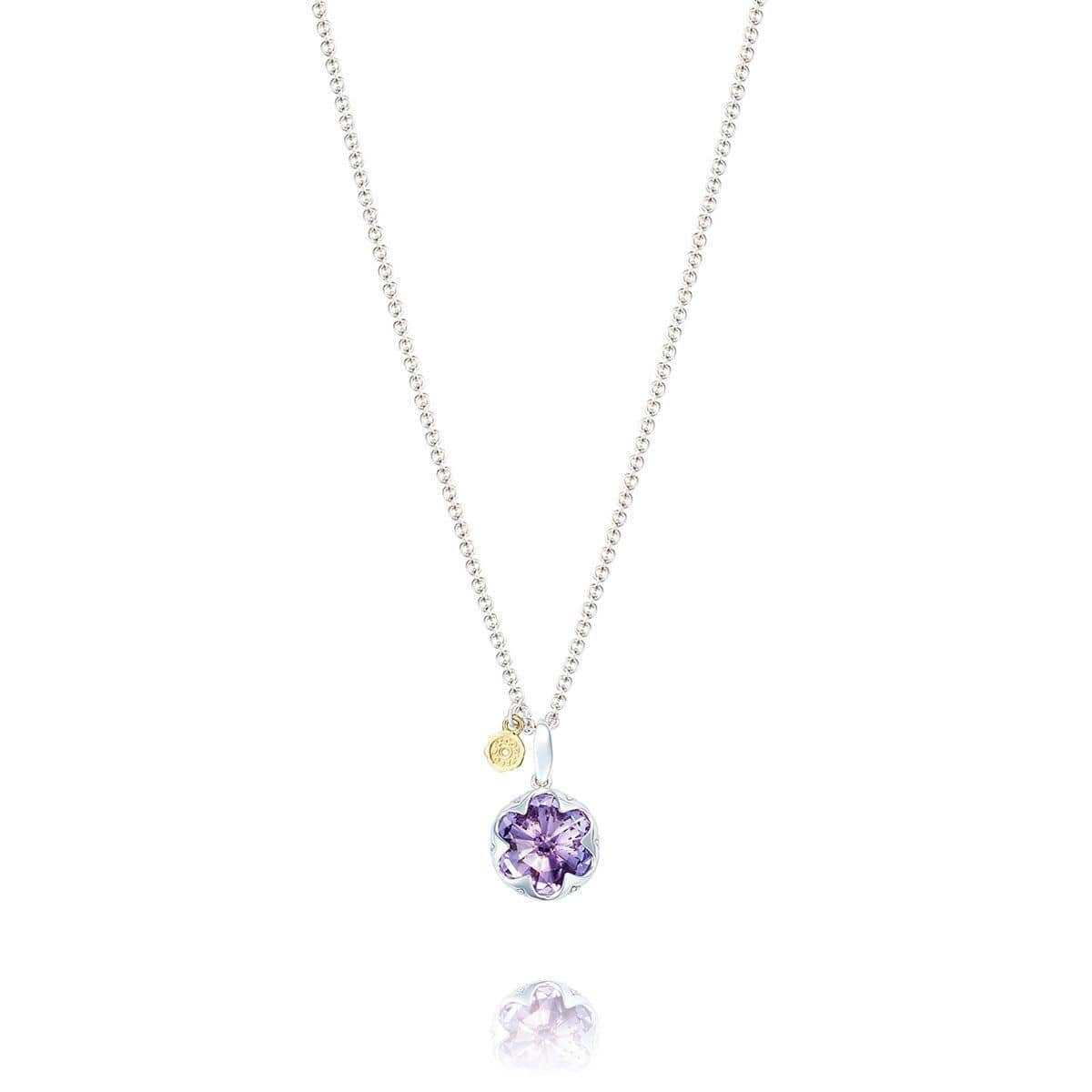 Sterling Silver Gemstone Pendant Necklace with Amethyst - SN19901-Tacori-Renee Taylor Gallery