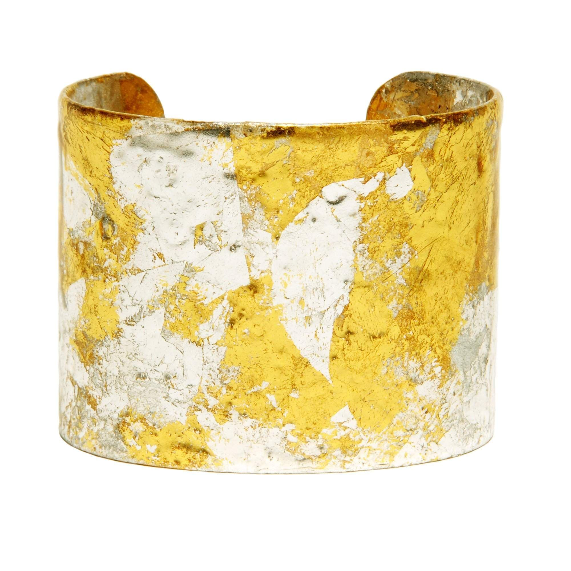 "Stockholm 2"" Gold Cuff - VO132-Evocateur-Renee Taylor Gallery"