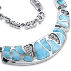 Surf Necklace - Nsurf01-00-Marahlago Larimar-Renee Taylor Gallery