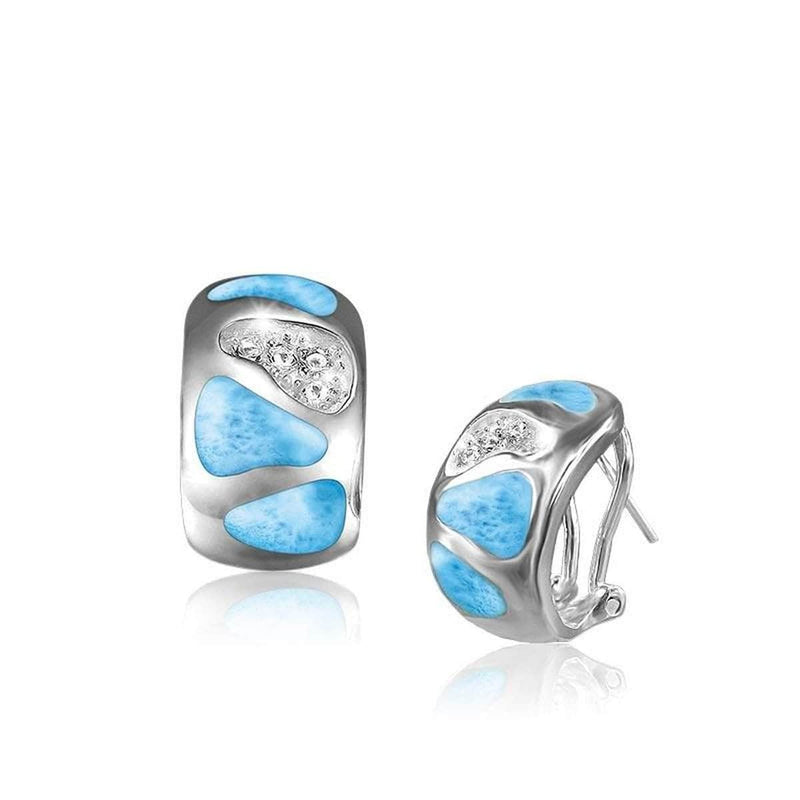 Surf Earrings - Esurf01-00-Marahlago Larimar-Renee Taylor Gallery