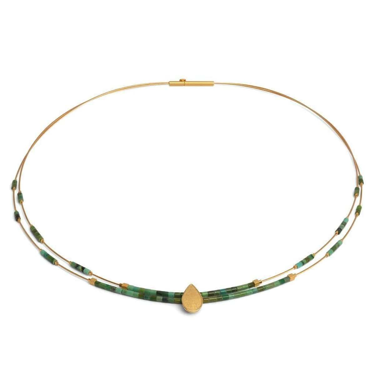 Tani Green Turquoise Necklace - 85225356