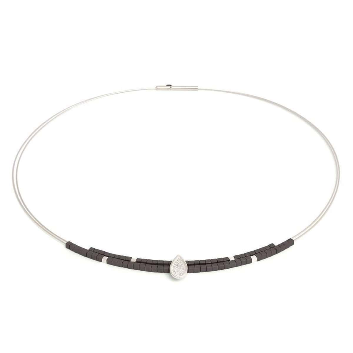 Tau Hematite Necklace - 84917274