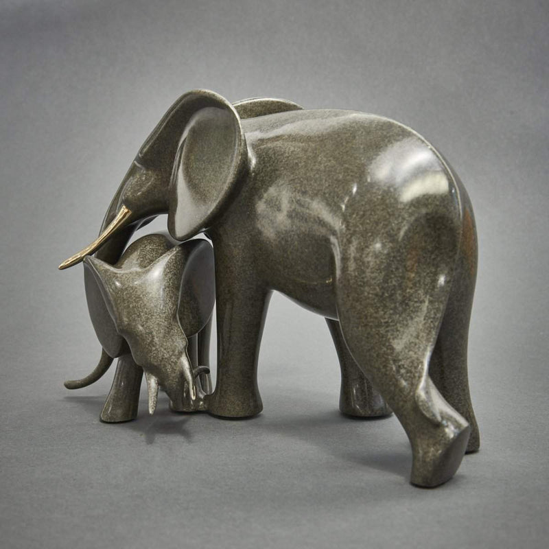 """Tender Elephants""-Loet Vanderveen-Renee Taylor Gallery"
