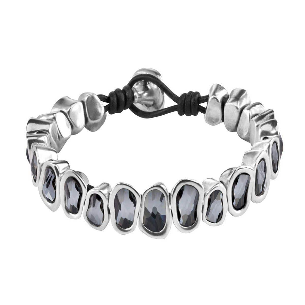 The Beast Layered Silver Bracelet - PUL1590GRSMTL0M