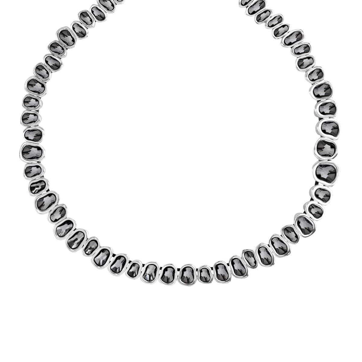 The Beast Layered Silver Necklace - COL1175GRSMTL0U-UNO de 50-Renee Taylor Gallery