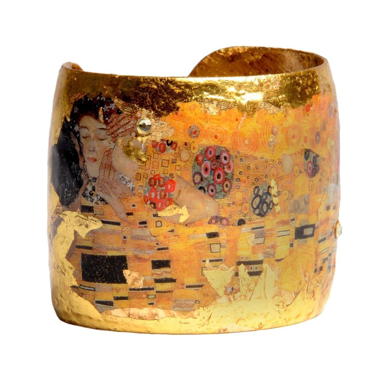 "The Kiss 2"" Gold Cuff - MU101-Evocateur-Renee Taylor Gallery"